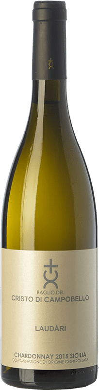 21,95 € 免费送货 | 白酒 Cristo di Campobello Laudàri I.G.T. Terre Siciliane 西西里岛 意大利 Chardonnay 瓶子 75 cl