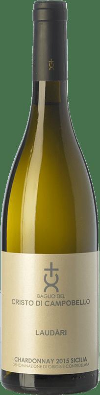 21,95 € Free Shipping | White wine Cristo di Campobello Laudàri I.G.T. Terre Siciliane Sicily Italy Chardonnay Bottle 75 cl