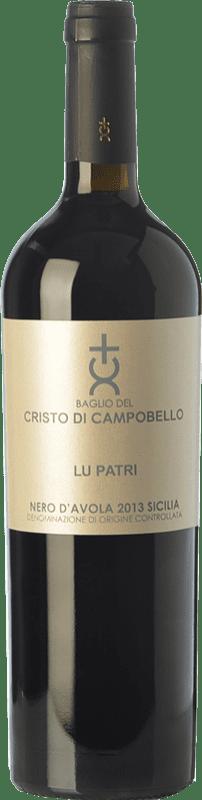 28,95 € Free Shipping | Red wine Cristo di Campobello Lu Patri I.G.T. Terre Siciliane Sicily Italy Nero d'Avola Bottle 75 cl