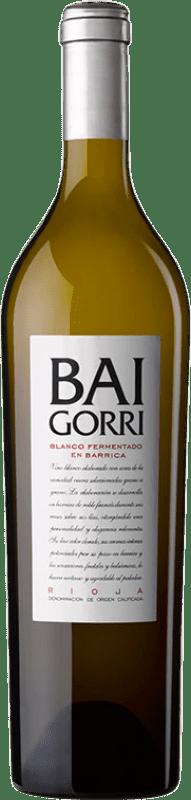 16,95 € Envío gratis | Vino blanco Baigorri Fermentado en Barrica Crianza D.O.Ca. Rioja La Rioja España Viura Botella 75 cl
