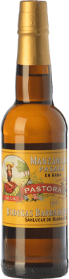 16,95 € 免费送货   强化酒 Barbadillo Manzanilla Pasada Pastora 37cl D.O. Manzanilla-Sanlúcar de Barrameda 安达卢西亚 西班牙 Palomino Fino 半瓶 37 cl