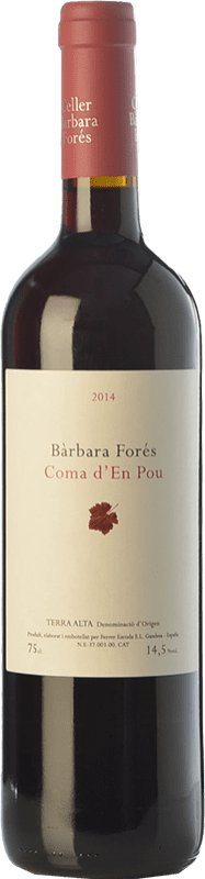 26,95 € Free Shipping | Red wine Bàrbara Forés Coma d'en Pou Crianza D.O. Terra Alta Catalonia Spain Syrah, Grenache, Carignan Bottle 75 cl