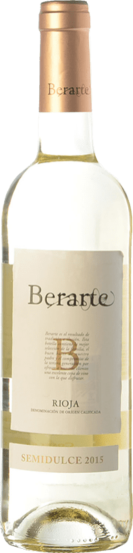 7,95 € Envoi gratuit | Vin blanc Berarte Demi Sec D.O.Ca. Rioja La Rioja Espagne Viura Bouteille 75 cl