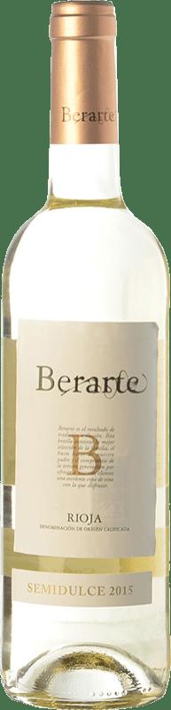 7,95 € Envío gratis | Vino blanco Berarte Semi Seco D.O.Ca. Rioja La Rioja España Viura Botella 75 cl