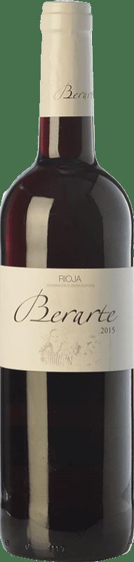 6,95 € Envío gratis | Vino tinto Berarte Joven D.O.Ca. Rioja La Rioja España Tempranillo Botella 75 cl