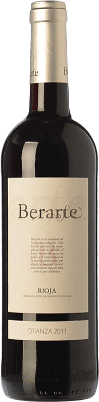 11,95 € 免费送货 | 红酒 Berarte Crianza D.O.Ca. Rioja 拉里奥哈 西班牙 Tempranillo 瓶子 75 cl