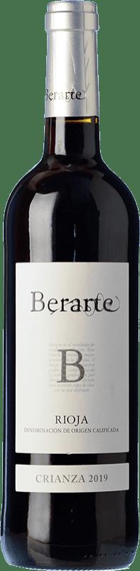 11,95 € Envío gratis | Vino tinto Berarte Crianza D.O.Ca. Rioja La Rioja España Tempranillo Botella 75 cl