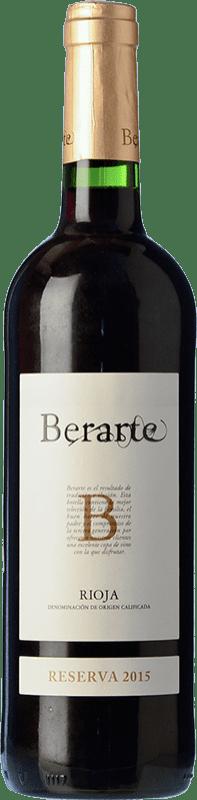 11,95 € 免费送货 | 红酒 Berarte Reserva D.O.Ca. Rioja 拉里奥哈 西班牙 Tempranillo 瓶子 75 cl