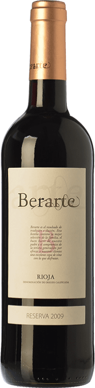 11,95 € Free Shipping | Red wine Berarte Reserva D.O.Ca. Rioja The Rioja Spain Tempranillo Bottle 75 cl