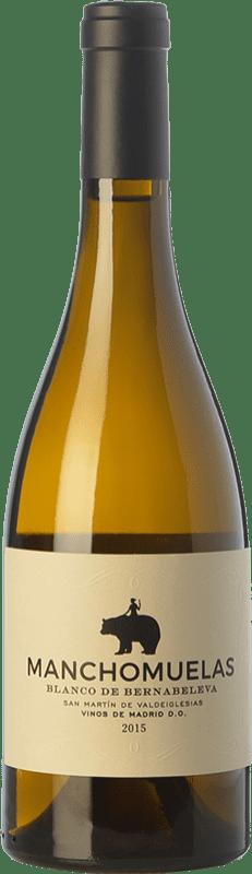 22,95 € Free Shipping | White wine Bernabeleva Manchomuelas Crianza D.O. Vinos de Madrid Madrid's community Spain Viura, Albillo, Malvar Bottle 75 cl