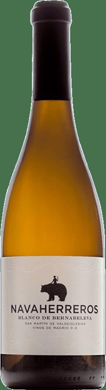 16,95 € Free Shipping | White wine Bernabeleva Navaherreros Crianza D.O. Vinos de Madrid Madrid's community Spain Albillo, Macabeo Bottle 75 cl