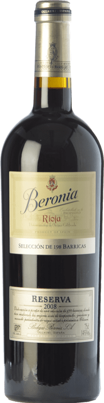 26,95 € Free Shipping | Red wine Beronia 198 Barricas Reserva D.O.Ca. Rioja The Rioja Spain Tempranillo, Grenache, Mazuelo Bottle 75 cl