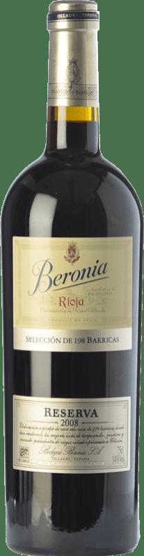 26,95 € Envío gratis | Vino tinto Beronia 198 Barricas Reserva D.O.Ca. Rioja La Rioja España Tempranillo, Garnacha, Mazuelo Botella 75 cl