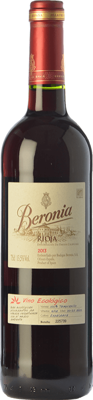 11,95 € Free Shipping | Red wine Beronia Ecológico Joven D.O.Ca. Rioja The Rioja Spain Tempranillo Bottle 75 cl