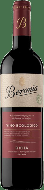 11,95 € Envío gratis | Vino tinto Beronia Ecológico Joven D.O.Ca. Rioja La Rioja España Tempranillo Botella 75 cl