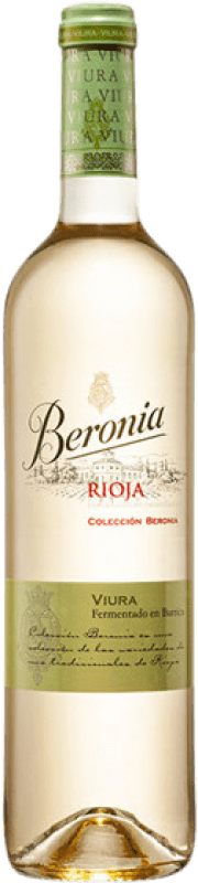 12,95 € Free Shipping | White wine Beronia Fermentado en Barrica Crianza D.O.Ca. Rioja The Rioja Spain Viura Bottle 75 cl