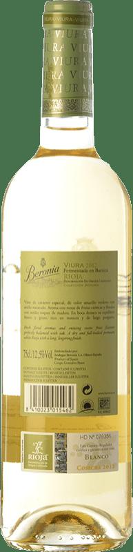 12,95 € Free Shipping   White wine Beronia Fermentado en Barrica Crianza D.O.Ca. Rioja The Rioja Spain Viura Bottle 75 cl