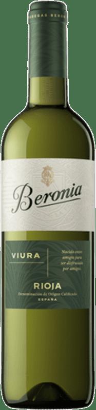 8,95 € Envío gratis | Vino blanco Beronia D.O.Ca. Rioja La Rioja España Viura Botella 75 cl