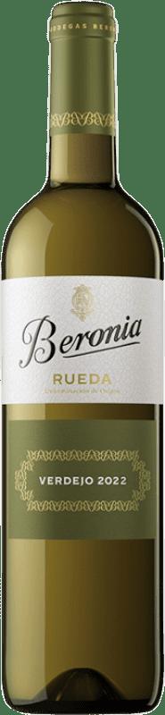 9,95 € Envío gratis | Vino blanco Beronia D.O. Rueda Castilla y León España Verdejo Botella 75 cl