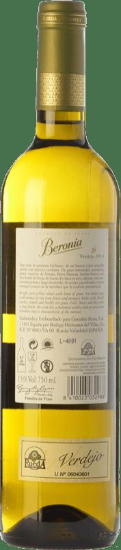 9,95 € Free Shipping | White wine Beronia D.O. Rueda Castilla y León Spain Verdejo Bottle 75 cl
