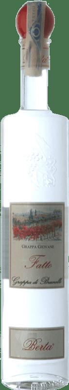 36,95 € Free Shipping | Grappa Berta Il Fatto Giovane di Brunello Piemonte Italy Bottle 70 cl
