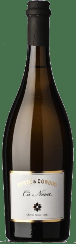 9,95 € Free Shipping | White wine Bertè & Cordini Cà Nova D.O.C. Oltrepò Pavese Lombardia Italy Pinot Black Bottle 75 cl