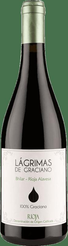 11,95 € Free Shipping | Red wine Bhilar Lágrimas Joven D.O.Ca. Rioja The Rioja Spain Graciano Bottle 75 cl