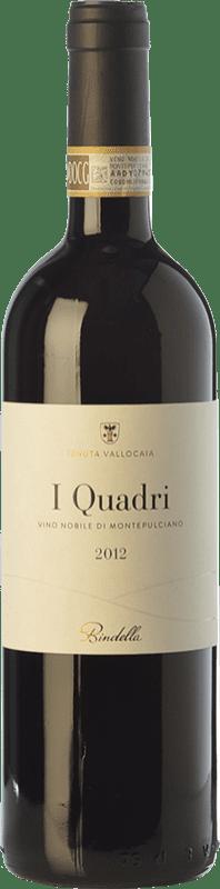 35,95 € Free Shipping | Red wine Bindella I Quadri D.O.C.G. Vino Nobile di Montepulciano Tuscany Italy Sangiovese Bottle 75 cl