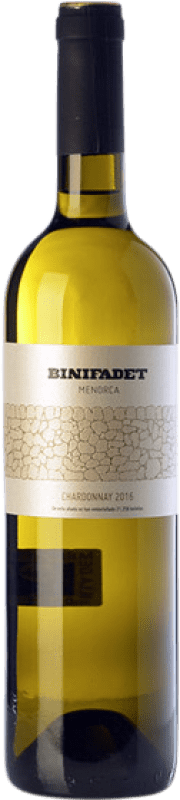 18,95 € Free Shipping | White wine Binifadet I.G.P. Vi de la Terra de Illa de Menorca Balearic Islands Spain Chardonnay Bottle 75 cl