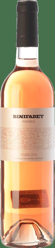 16,95 € Free Shipping | Rosé wine Binifadet I.G.P. Vi de la Terra de Illa de Menorca Balearic Islands Spain Merlot, Monastrell Bottle 75 cl