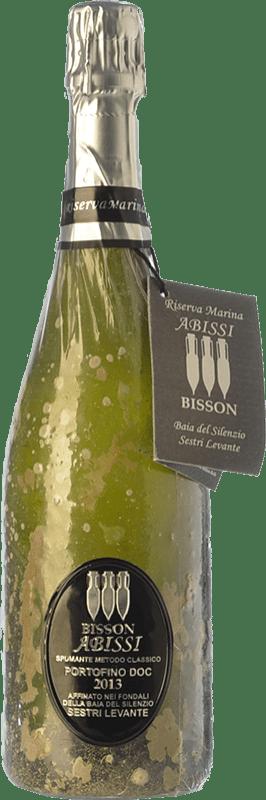 44,95 € Free Shipping | White sparkling Bisson Abissi Dosage Zero I.G.T. Portofino Liguria Italy Vermentino, Pigato, Bianchetta Bottle 75 cl