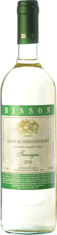 12,95 € Free Shipping | White wine Bisson Trevigne I.G.T. Colline del Genovesato Liguria Italy Vermentino, Pigato, Bianchetta Bottle 75 cl