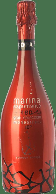 6,95 € 免费送货 | 红汽酒 Bocopa Marina Espumante D.O. Alicante 巴伦西亚社区 西班牙 Monastrell 瓶子 75 cl