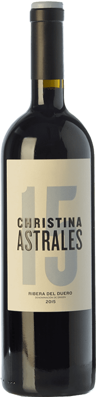 46,95 € | Red wine Astrales Christina Crianza D.O. Ribera del Duero Castilla y León Spain Tempranillo Bottle 75 cl