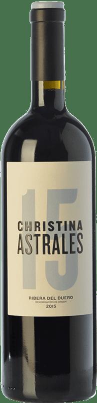 46,95 € Free Shipping | Red wine Astrales Christina Crianza D.O. Ribera del Duero Castilla y León Spain Tempranillo Bottle 75 cl