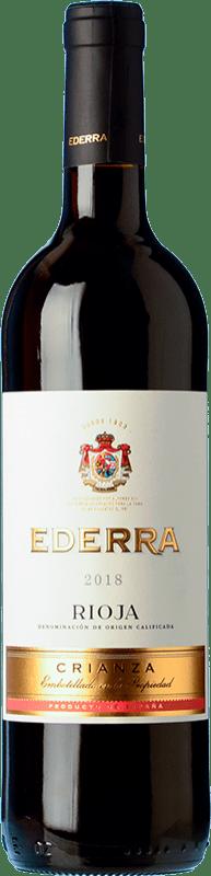 5,95 € 免费送货 | 红酒 Bodegas Bilbaínas Ederra Crianza D.O.Ca. Rioja 拉里奥哈 西班牙 Tempranillo 瓶子 75 cl