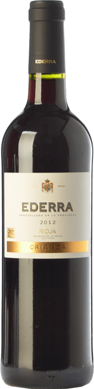6,95 € | Red wine Bodegas Bilbaínas Ederra Crianza D.O.Ca. Rioja The Rioja Spain Tempranillo Bottle 75 cl