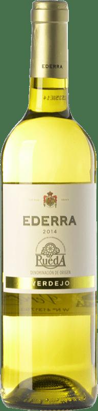 5,95 € 免费送货 | 白酒 Bodegas Bilbaínas Ederra Verdejo Joven D.O. Rueda 卡斯蒂利亚莱昂 西班牙 Viura, Verdejo 瓶子 75 cl