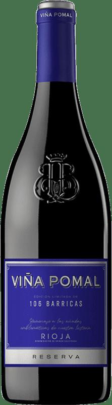17,95 € 免费送货 | 红酒 Bodegas Bilbaínas Viña Pomal 106 Barricas Reserva D.O.Ca. Rioja 拉里奥哈 西班牙 Tempranillo, Grenache, Graciano 瓶子 75 cl