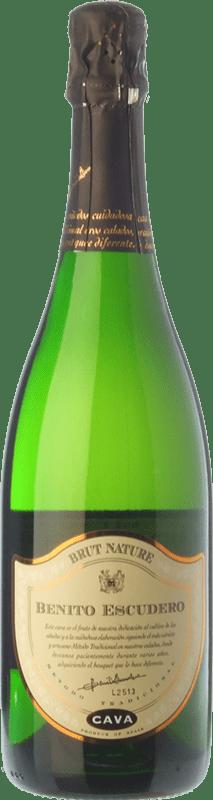 14,95 € | White sparkling Bodegas Escudero Brut Nature Reserva D.O. Cava Catalonia Spain Viura Bottle 75 cl