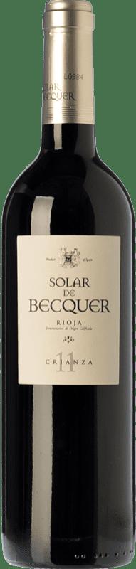 9,95 € | Red wine Bodegas Escudero Solar de Becquer Crianza D.O.Ca. Rioja The Rioja Spain Tempranillo, Grenache, Mazuelo Bottle 75 cl