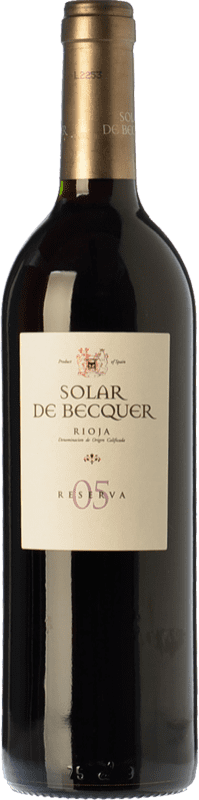 9,95 € | Red wine Bodegas Escudero Solar de Becquer Reserva D.O.Ca. Rioja The Rioja Spain Tempranillo, Grenache, Mazuelo Bottle 75 cl