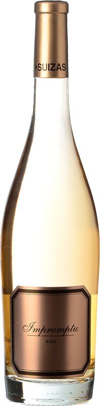 26,95 € 免费送货 | 玫瑰酒 Hispano-Suizas Impromptu Rosé D.O. Valencia 巴伦西亚社区 西班牙 Pinot Black 瓶子 75 cl