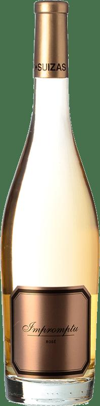 26,95 € Envoi gratuit | Vin rose Hispano-Suizas Impromptu Rosé D.O. Valencia Communauté valencienne Espagne Pinot Noir Bouteille 75 cl