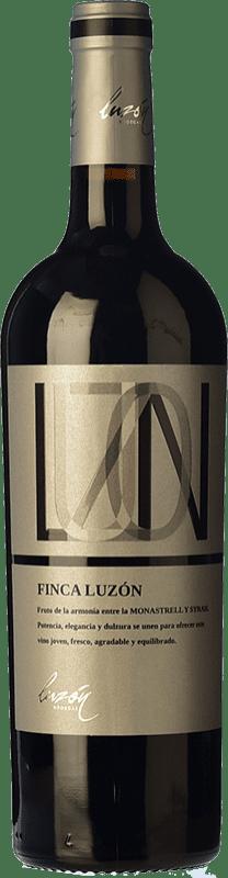6,95 € Envío gratis | Vino tinto Luzón Finca Luzón Joven D.O. Jumilla Castilla la Mancha España Syrah, Monastrell Botella 75 cl