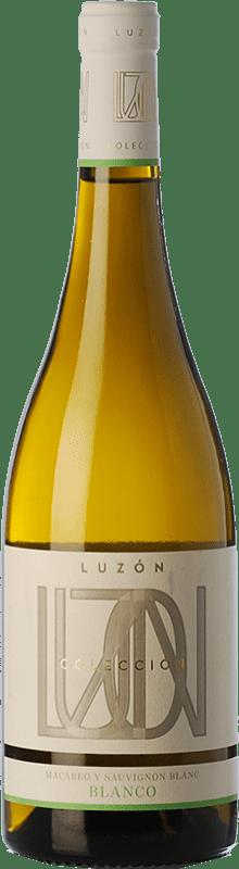 6,95 € Envío gratis | Vino blanco Luzón Crianza D.O. Jumilla Castilla la Mancha España Macabeo, Airén Botella 75 cl