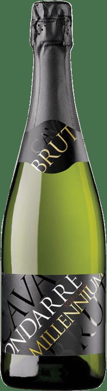 9,95 € Envoi gratuit | Blanc moussant Ondarre Millennium Brut Joven D.O. Cava Catalogne Espagne Viura Bouteille 75 cl