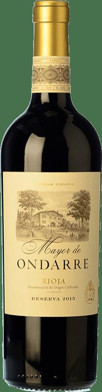 31,95 € Envío gratis | Vino tinto Ondarre Mayor de Ondarre Especial Reserva D.O.Ca. Rioja La Rioja España Tempranillo, Mazuelo Botella 75 cl