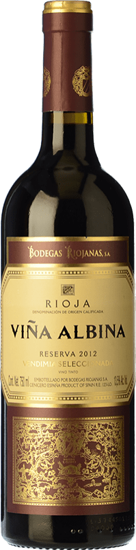 14,95 € Free Shipping | Red wine Bodegas Riojanas Viña Albina Selección Reserva D.O.Ca. Rioja The Rioja Spain Tempranillo, Graciano, Mazuelo Bottle 75 cl