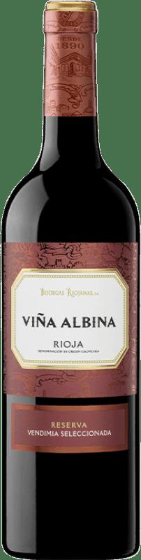 14,95 € Envoi gratuit | Vin rouge Bodegas Riojanas Viña Albina Selección Reserva D.O.Ca. Rioja La Rioja Espagne Tempranillo, Graciano, Mazuelo Bouteille 75 cl